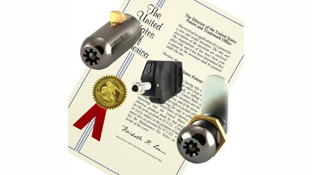 High Security Lock Wins U.S. Patent