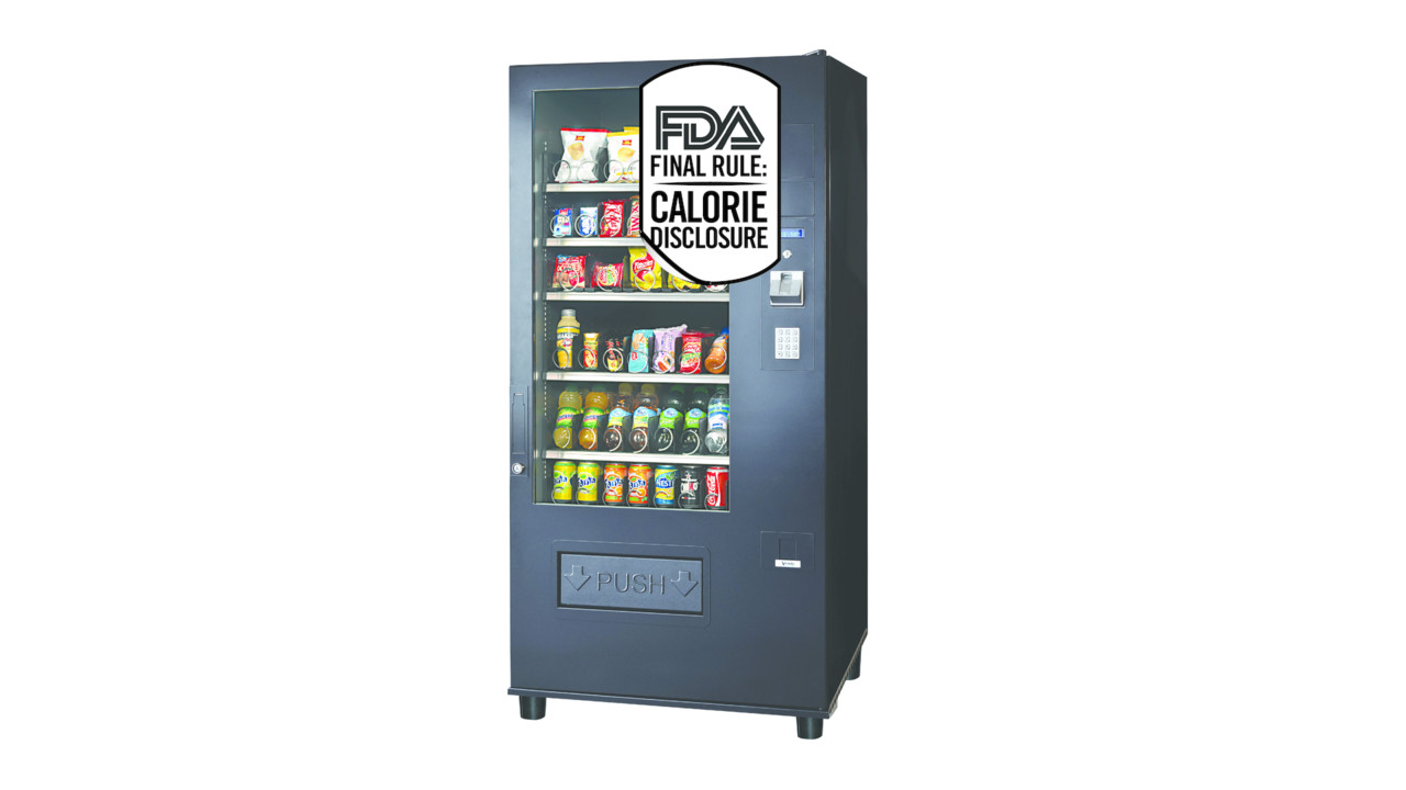 It is a graphic of Smart Fda Vending Machine Labeling