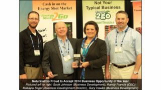 Healthy Vending Business Opportunity Naturals2Go Receives Business Opportunity Of The Year Award; Third Straight Win
