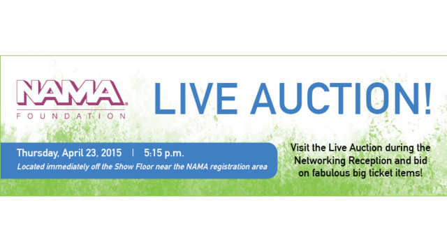 NAMA Foundation To Host Live Auction At OneShow On April 23