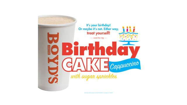 Birthday Cake Cappuccino With Real Sugar Sprinkles For Beverage Dispensers