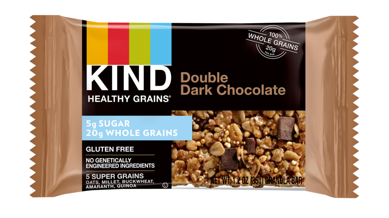 KIND Healthy Grains Double Dark Chocolate Bar | VendingMarketWatch