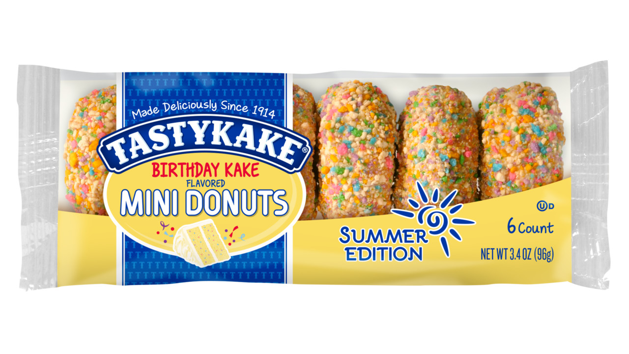 Tastykake Launches Summer Edition Birthday Cake Mini