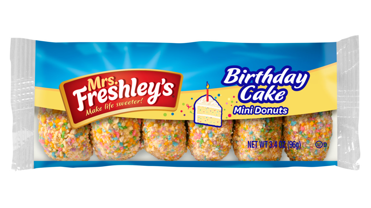 Mrs Freshley S Releases Birthday Cake Bar And Mini Donuts