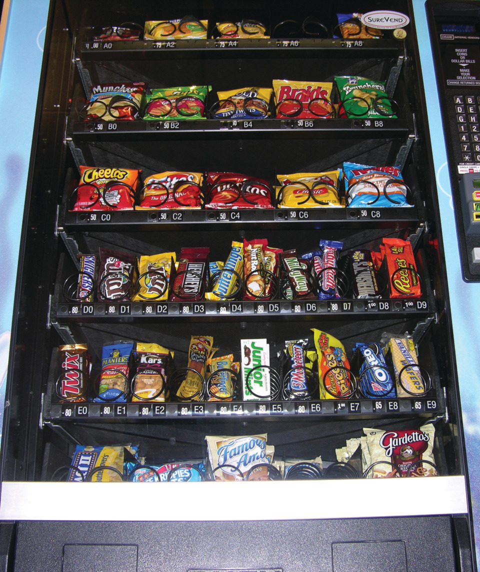 Vending Machines That Feature Healthy Edible And Non-Edible Items