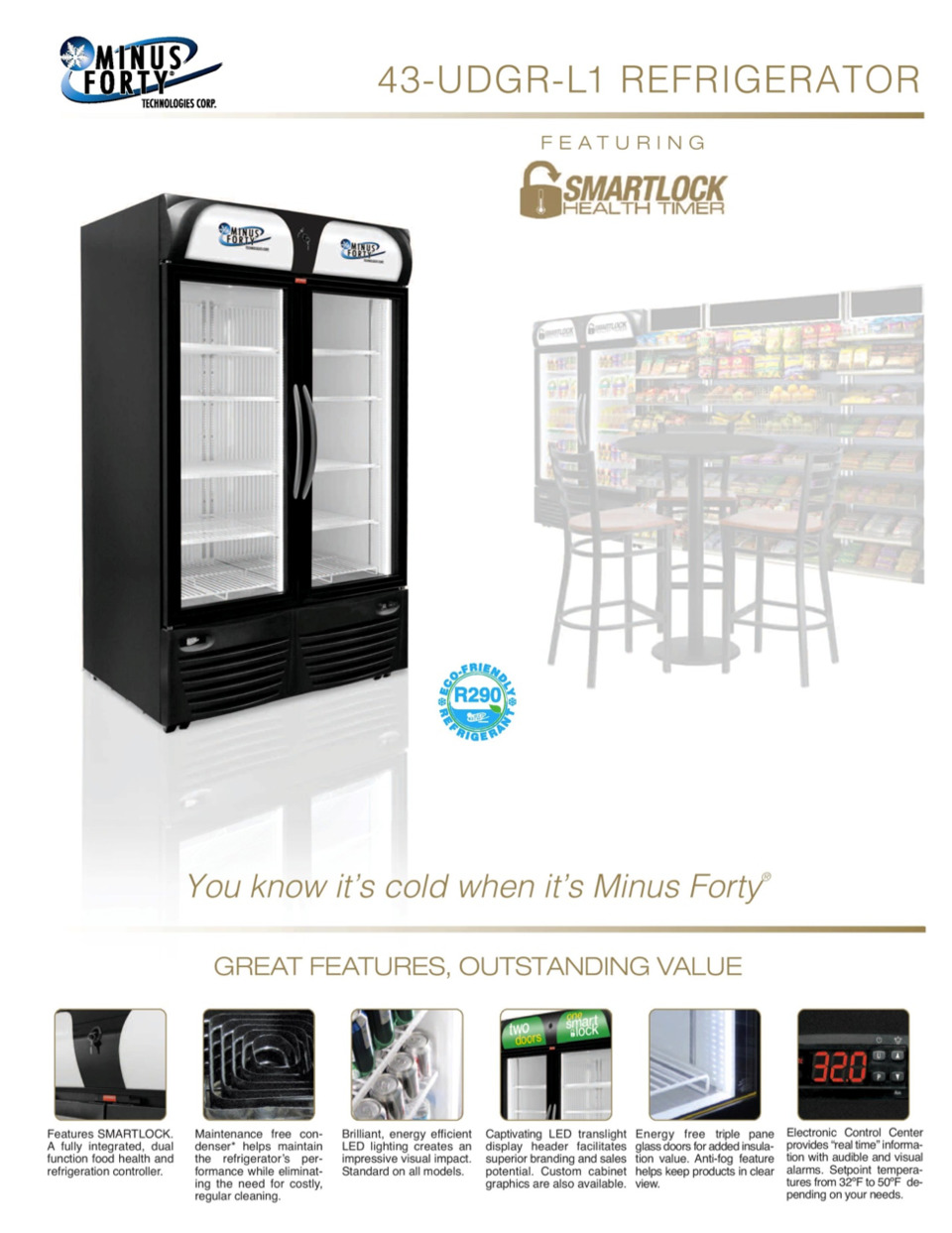 Minus Forty Announces Release Of New Double Door Cooler With