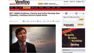 VMW Video: Coin Acceptors And InOne Develop New Telemetry, Cashless Device Called Arrow