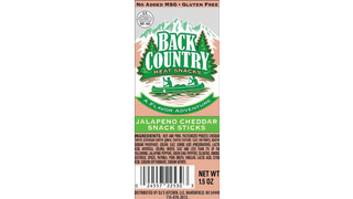 DJ Kitchen Back Country Jalapeno Cheddar Snack Sticks