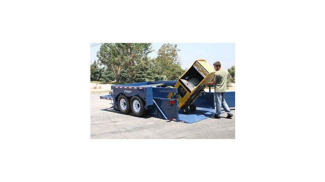 Rock Line Air-Tow Ground-Level Loading Trailer