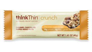 thinkThin Caramel Chocolate Dipped Mixed Nuts Crunch Bar