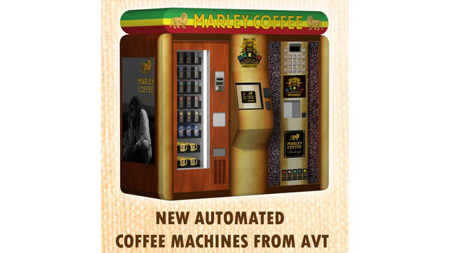 AVT To Give Away Marley Coffee Vending Machine Jamaica Trip