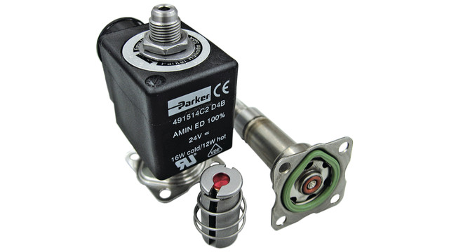 Parker Fluid Liquipure Solenoid Stainless Steel Valves