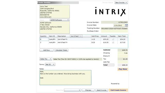 Intrix Invoice Creator For Payment Gateway VendingMarketWatch - Invoice gateway