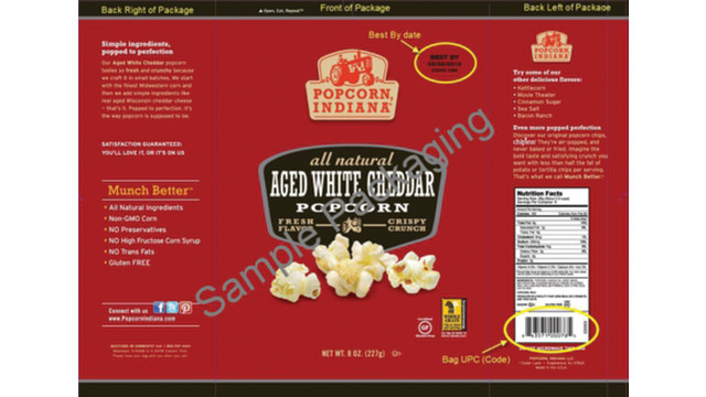 Dale and Thomas Popcorn Voluntarily Recalls Select Popcorn, Indiana-Brand Flavored Popcorn Bags