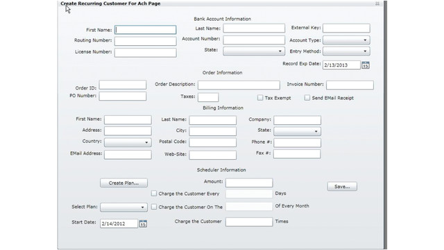 Intrix Recurring Payment Module