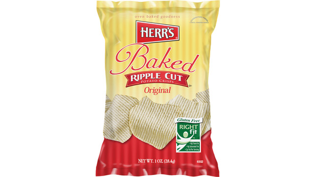 Herr's Original Baked Crisps Ripple Cut