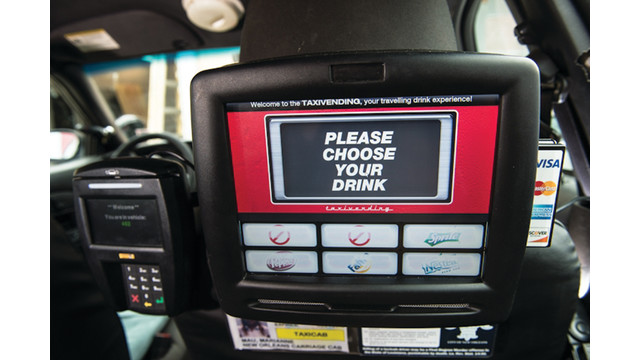 Drink Vending Machines Now In New Orleans Taxis