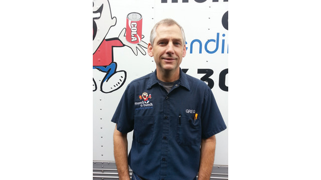 2013 Route Driver Of The Year Quarterly Winner: Greg Winans, Munch A Bunch Vending Service, Escondido, Calif.