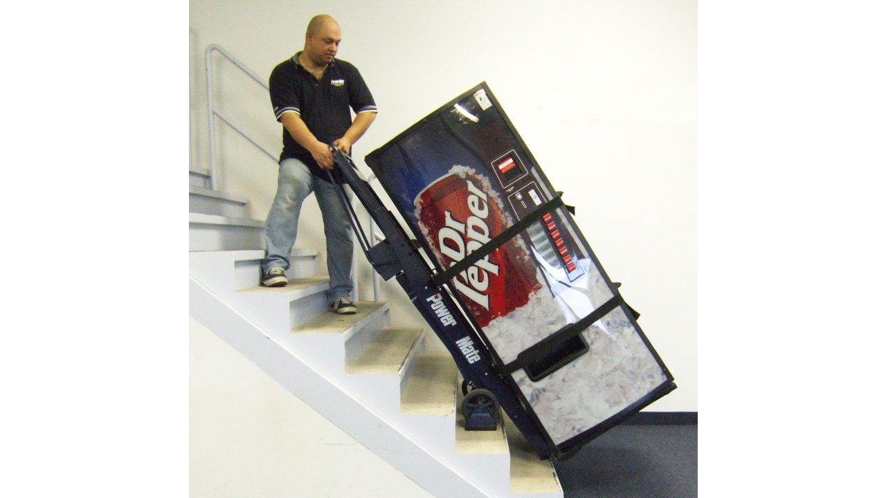 Powermate m 2b stair climbing hand truck vendingmarketwatch for Motorized stair climbing dolly