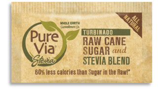 Pure Via Turbinado Raw Cane Sugar, Stevia Blend