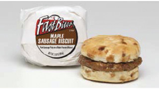 AdvancePierre Fast Bites Maple Sausage Biscuit Breakfast Sandwich