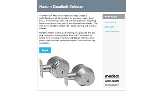 Medeco Online Deadbolt Selector