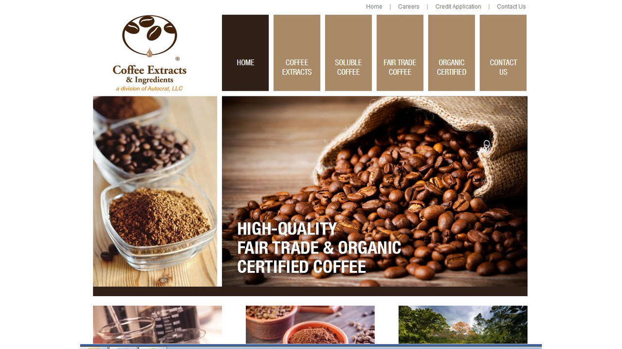 Coffee extracts amp ingredients launches new website