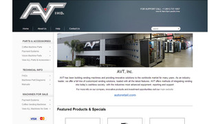 AVT Launches Vending Parts, Systems Website