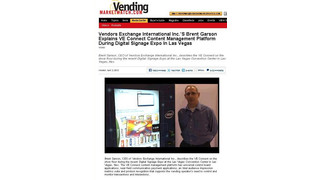 See The Video: Vendors Exchange International Inc.'s Brent Garson Explains VE Connect Content Management Platform During Digital Signage Expo In Las Vegas