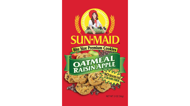 Sun-Maid Oatmeal Raisin Apple Bite-Size Premium Cookies