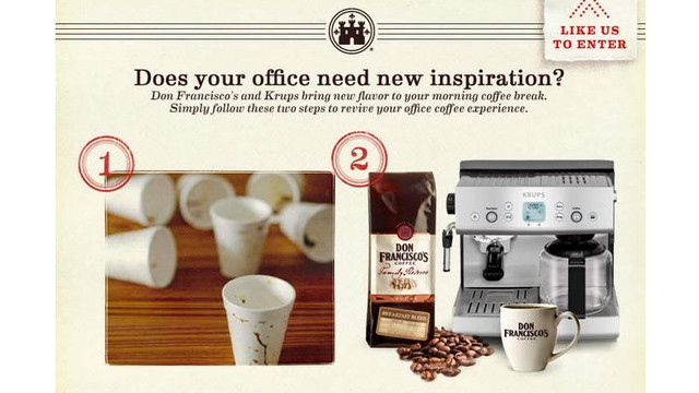 Don Francisco's Coffee Launches Breakroom Makeover Contest In California