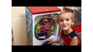 Playing Twister bulk vending machine