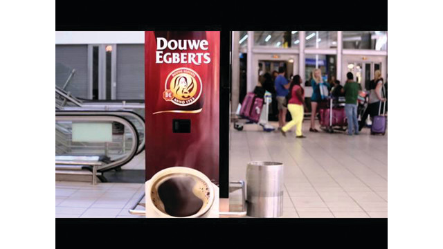 Douwe Egberts Uses Coffee Vending Machine In Marketing Campaign