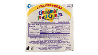 General Mills Recalls Single-Service Cinnamon Toast Crunch Cereal Due To Salmonella
