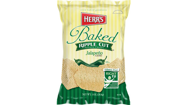 Herr's Jalapeno Flavored Ripple Baked Crisps