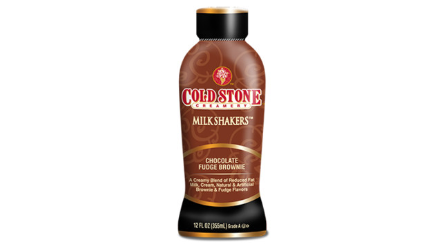 Cold Stone Creamery Chocolate Fudge Brownie Milk Shakers