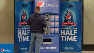 Pepsi Displays Super Bowl Vending Machine In Denver, Colo.