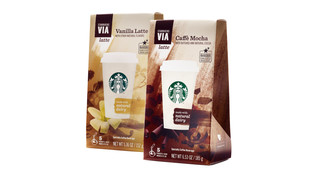 Starbucks Launches VIA Latte Drink Mixes In Retail