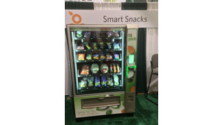 FitPick® Vending Machine Featuring Single-Serve Fresh Produce Items On Display In Fresh Produce Pavilion At School Nutrition Conference