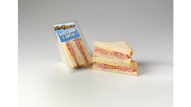 Fast Choice Honey Ham & Cheese Sandwich