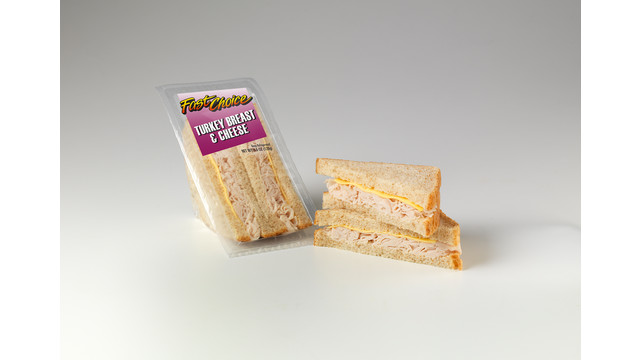 Fast Choice Turkey Breast & Cheese Sandwich