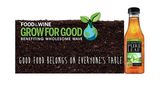 Pure Leaf Tea Partners With FOOD & WINE, Wholesome Wave