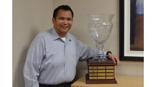 Eddison Esteban Receives Wilbur Curtis' Curtis Cup Award