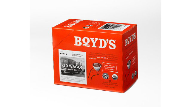 Boyd's Single-Serve Red Wagon Organic Coffee